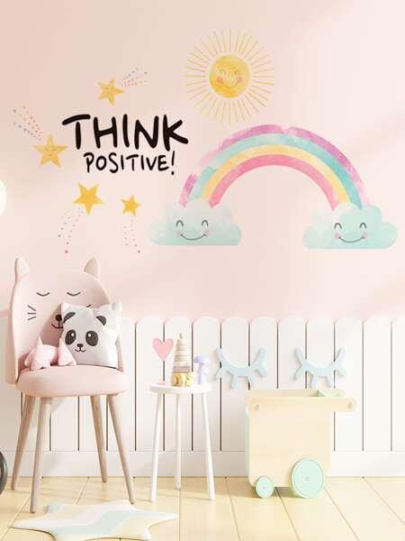 Rainbow Print Kids Wall Sticker