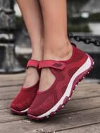 Minimalist Velcro Strap Knit Sneakers