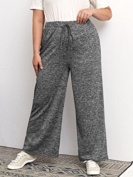 Plus Space Dye Knot Front Sweatpants