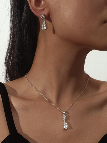 3pcs Crystal Decor Jewelry Set