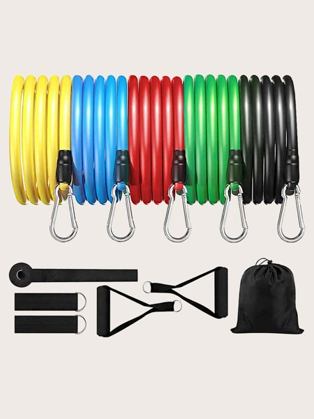 11pcs Exercise Band Set With Handles