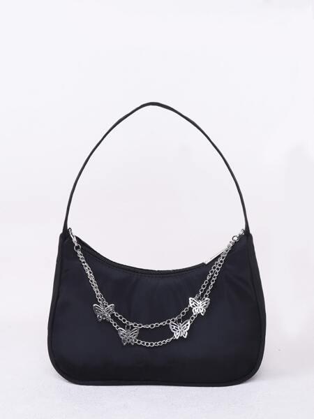 Chain & Star Charm Shoulder Bag