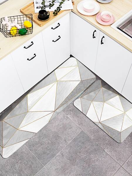 1pc Geometric Pattern Floor Mat