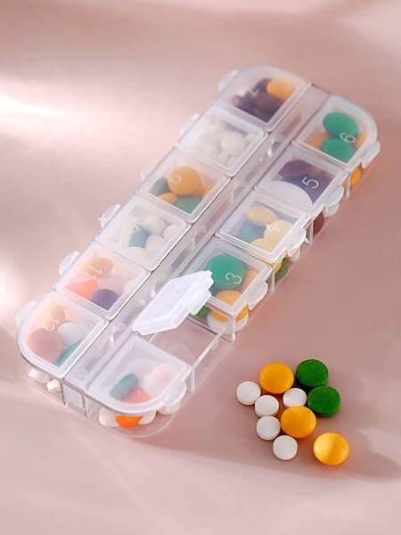 1pc Multi-grid Pill Storage Box