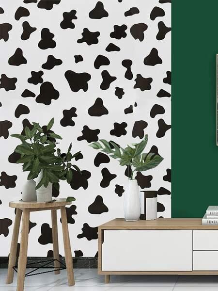 1sheet Cow Pattern Wall Sticker