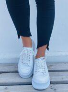 Minimalist Lace-Up Front Platform Sneakers