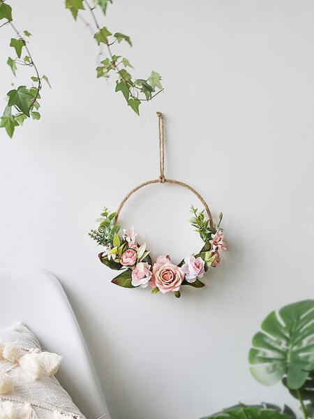 1pc Wall Hanging Artificial Wreath
