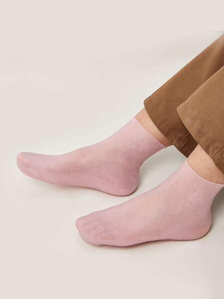 1pair Silicone Whitening Moisturizing Socks