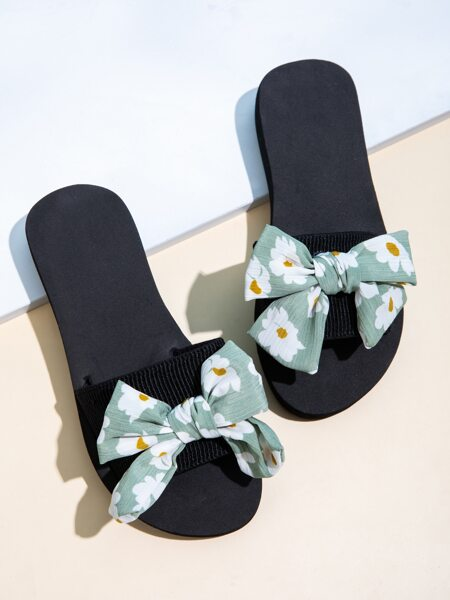 Floral Bow Decor Slides