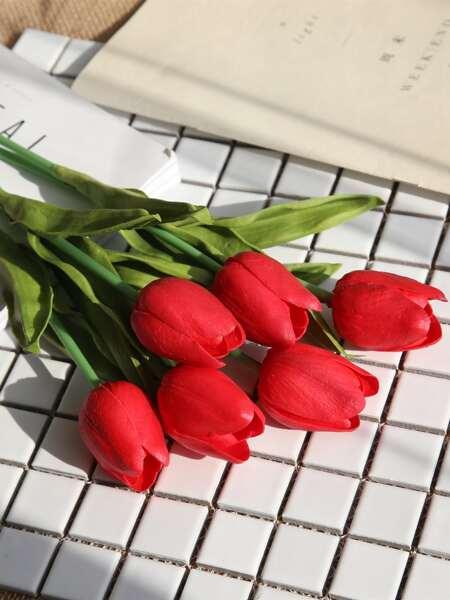 5pcs Artificial Tulip
