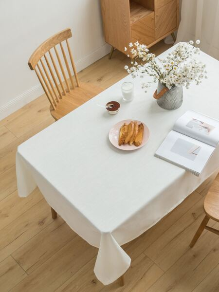 1pc Solid Color Tablecloth