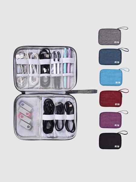 1pc Random Color Data Line Storage Bag