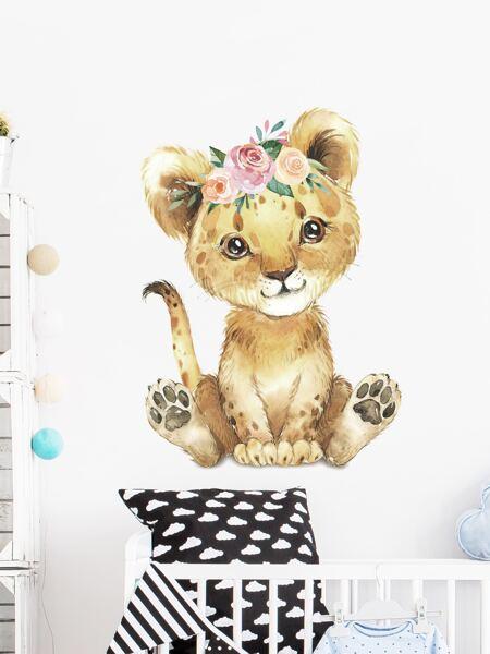 Lion Print Kids Wall Sticker