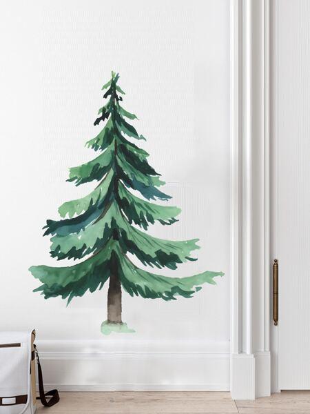 Pine Tree Print Kids Wall Sticker