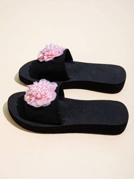 Faux Pearl & Flower Decor Slides