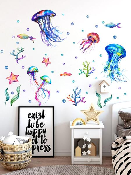 Kids Jellyfish Print Wall Sticker