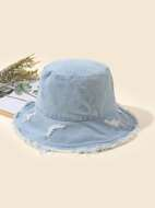 Raw Hem Bucket Hat