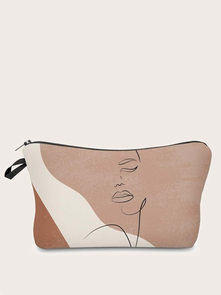 Abstract Art Zipper Makeup Bag