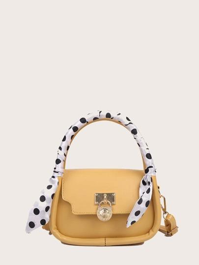Polka Dot Handle Satchel Bag