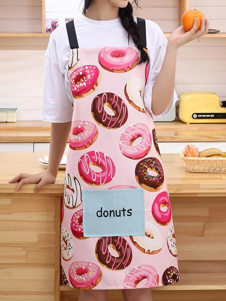 Donuts Print Apron