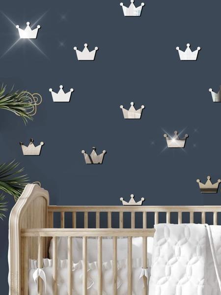 15pcs Crown Mirror Surface Kids Wall Sticker