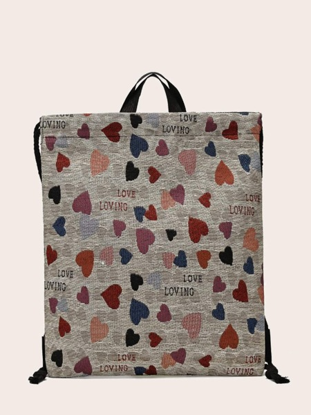 Heart & Letter Graphic Backpack