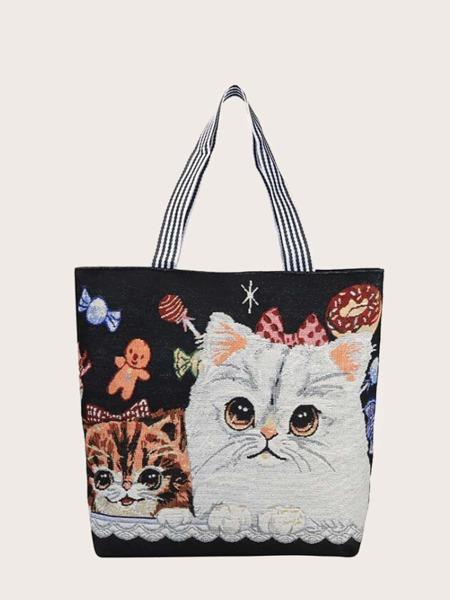 Cartoon Graphic Shopper Bag