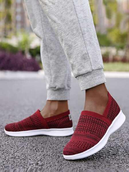 Mesh Panel Running Shoes