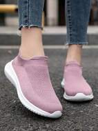 Mesh Panel Slip-On Sneakers