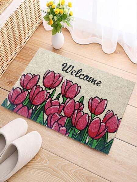 Tulip Print Floor Mat
