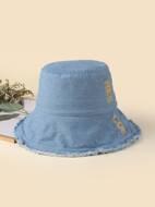 Letter Pattern Bucket Hat