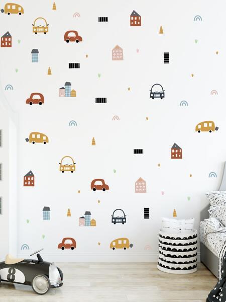 Kids Car Print Wall Sticker