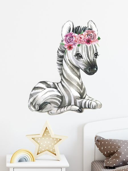 Kids Zebra Print Wall Sticker