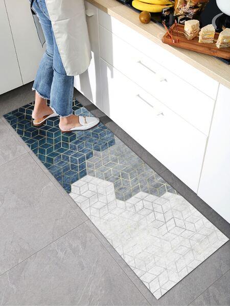 Geometric Pattern Kitchen Rug