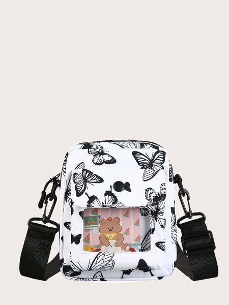 Butterfly Print Crossbody Bag