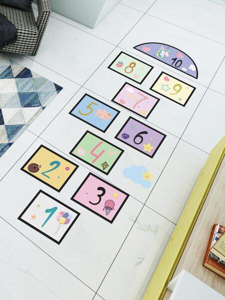 Cartoon Graphic Kids Floor Sticker
