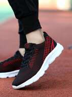 Lace Up Front Knit Sneakers