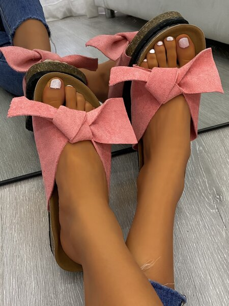 Bow Decor Footbed Sandals