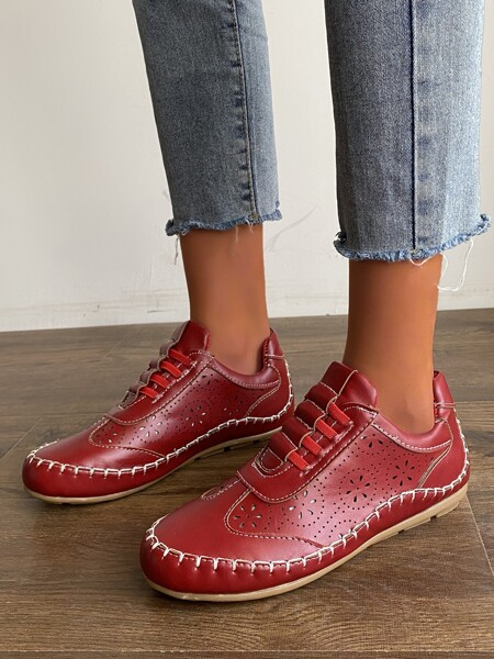 Laser Cut-out Sneakers