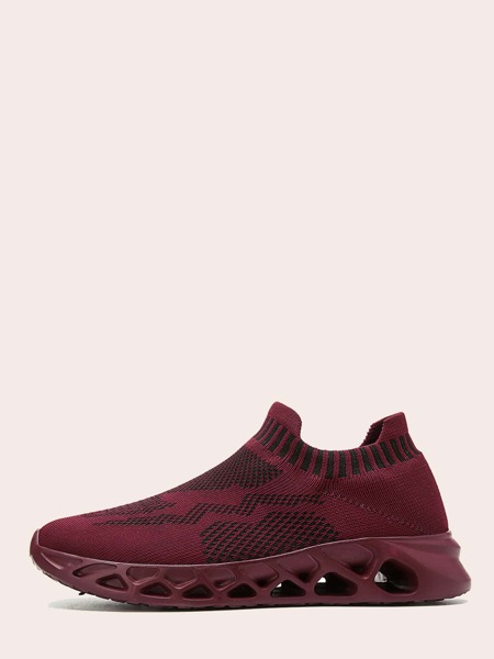 Slip On Knit Running Shoes