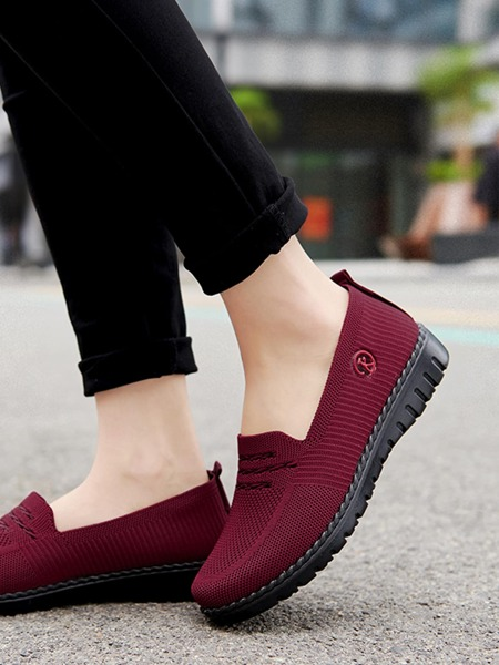 Striped Mesh Slip On Sneakers