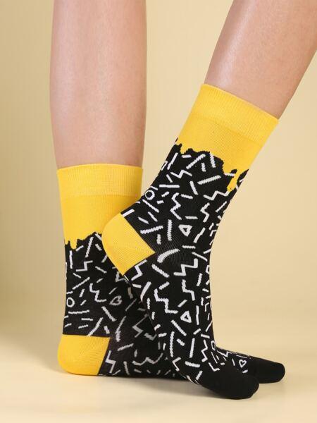 Graphic Crew Socks