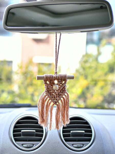 1pc Mini Woven Tassel Wall Hanging