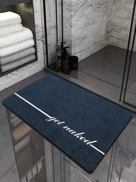 Slogan Graphic Non-slip Floor Mat