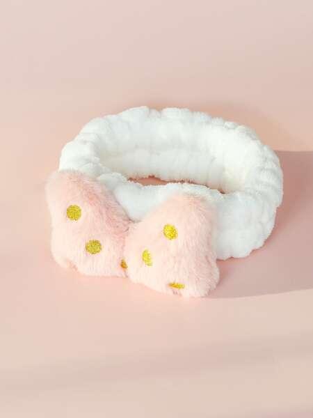 1pc Bow Decor Bath Headband