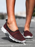 Knit Low Top Slip On Running Shoes