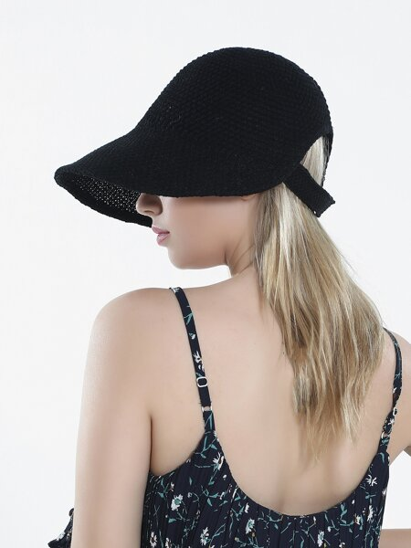 Velcro Strap Solid Hat