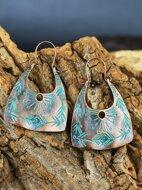 Textured Metal Hoop Earrings