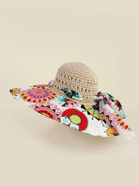 Graphic Straw Hat