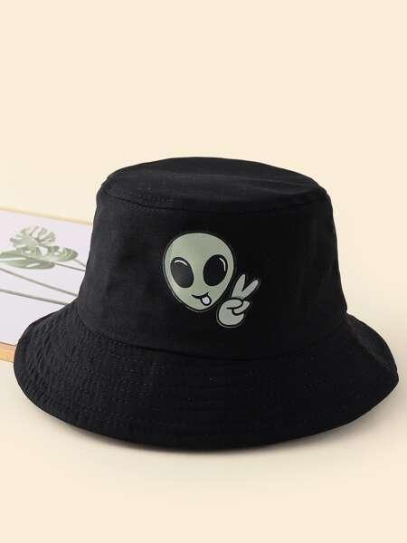 Alien Print Bucket Hat